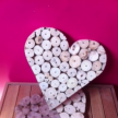 Driftwood rounds small heart 20cm