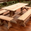 8 Seater Balau Exterior table with Benches.