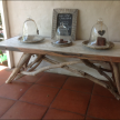 8 Seater Pallet/Driftwood Dining Table 205cm x 82cm x 75cm