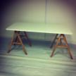 NEW White/Beech Office Desk 160cm x 75cm x75cm NEW