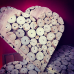 Driftwood rounds medium heart 40cm