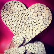 Driftwood rounds large heart 65cm